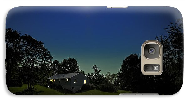 Galaxy Case featuring the photograph Pegasus And Moon by Greg Reed