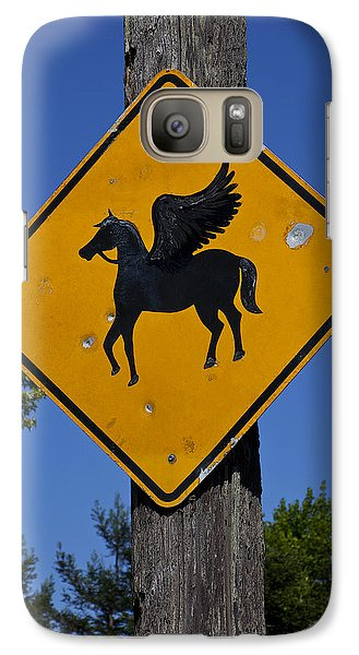 Pegasus Road Sign Galaxy S7 Case