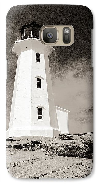 Galaxy Case featuring the photograph Peggy's Cove Lighthouse by Arkady Kunysz