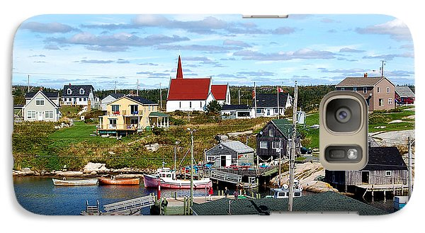 Galaxy Case featuring the photograph Peggys Cove by Ron Haist