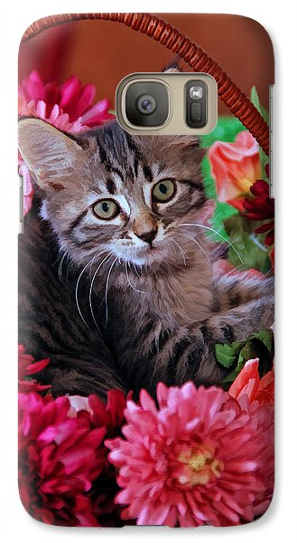 Galaxy Case featuring the photograph Pele In The Flowers by Kenny Francis