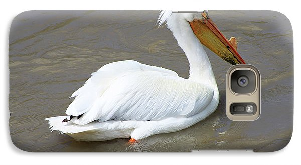 Galaxy Case featuring the photograph Pelecanus Eerythrorhynchos by Alyce Taylor
