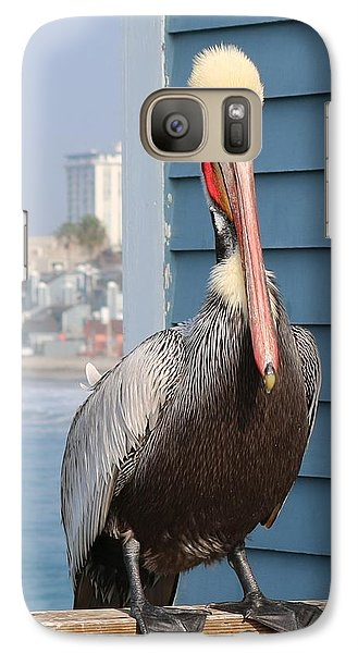 Galaxy Case featuring the photograph Pelican - 4 by Christy Pooschke