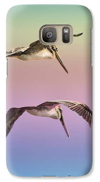 Galaxy Case featuring the photograph Pelican Flight by Joseph Hollingsworth