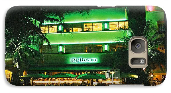 Galaxy Case featuring the photograph Pelican Hotel Film Image by Gary Dean Mercer Clark