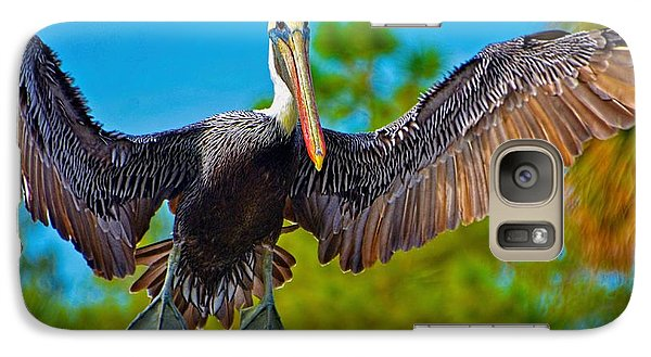 Galaxy Case featuring the photograph Pelican In Flight by Pamela Blizzard