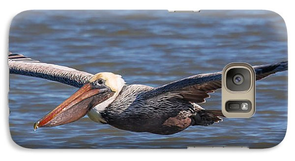Galaxy Case featuring the photograph Pelican In Flight by Patricia Schaefer