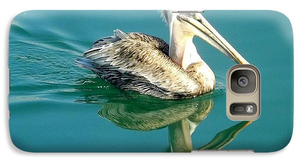 Galaxy Case featuring the photograph Pelican In San Francisco Bay by Clare Bevan