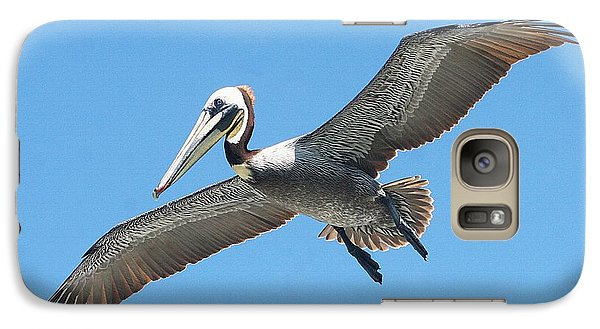 Galaxy Case featuring the photograph Pelican Landing On  Pier by Tom Janca