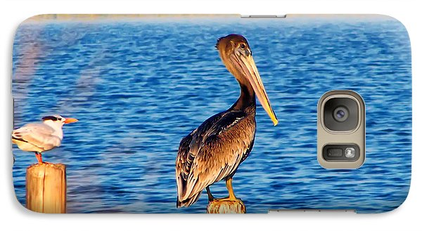 Pelican On A Pole Galaxy S7 Case