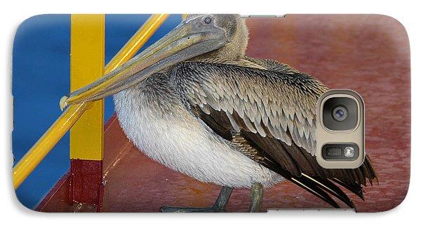 Pelican On A Ship Deck Galaxy S7 Case
