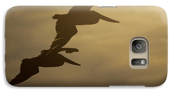 Galaxy Case featuring the photograph Pelican Pair by Erin Kohlenberg