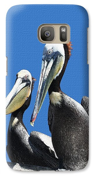 Galaxy Case featuring the photograph Pelican Pair by Tom Janca