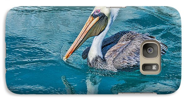Galaxy Case featuring the photograph Pelican Reflection by Don Durfee