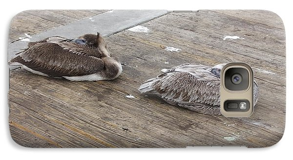 Galaxy Case featuring the photograph Pelican Resting by Deborah DeLaBarre