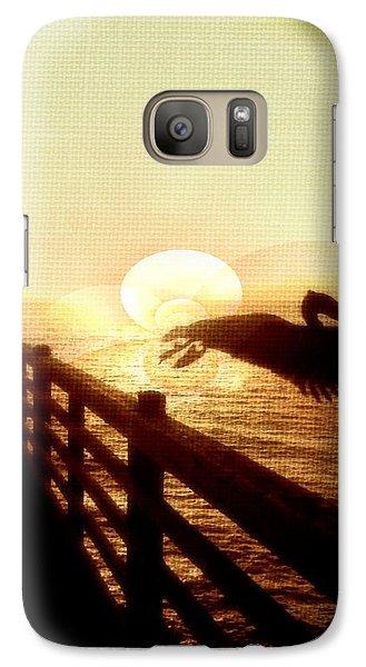 Galaxy Case featuring the photograph Pelican Sun by Amanda Eberly-Kudamik