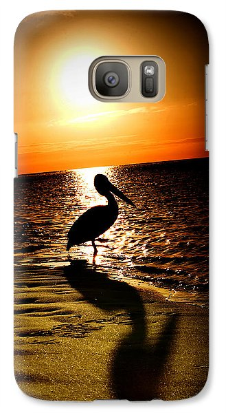 Galaxy Case featuring the photograph Pelican Sunrise by Yew Kwang