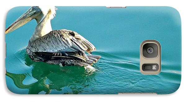 Galaxy Case featuring the photograph Pelican Swimming by Clare Bevan