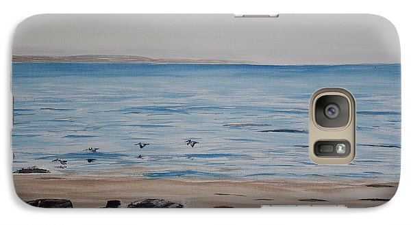 Galaxy Case featuring the painting Pelicans At El Capitan by Ian Donley