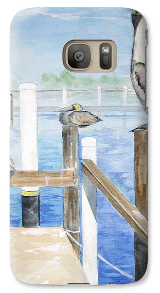 Galaxy Case featuring the painting Pelicans by Ellen Canfield