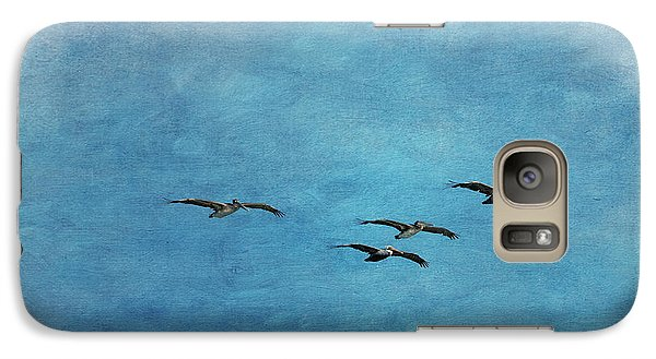 Pelicans In Flight Galaxy S7 Case