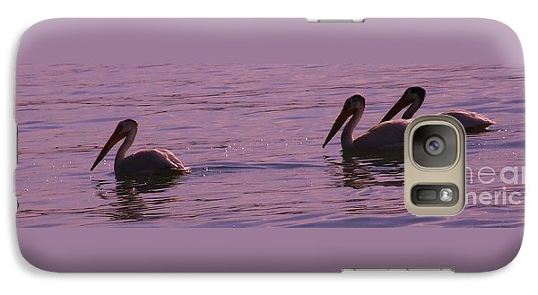 Galaxy Case featuring the photograph Pelicans by Marianne NANA Betts
