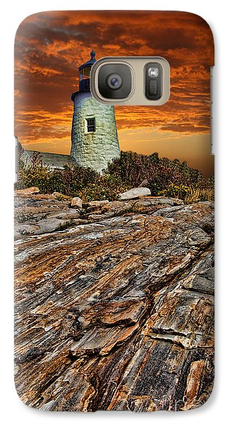 Galaxy Case featuring the photograph Pemaquid Point Lighthouse by Shirley Mangini