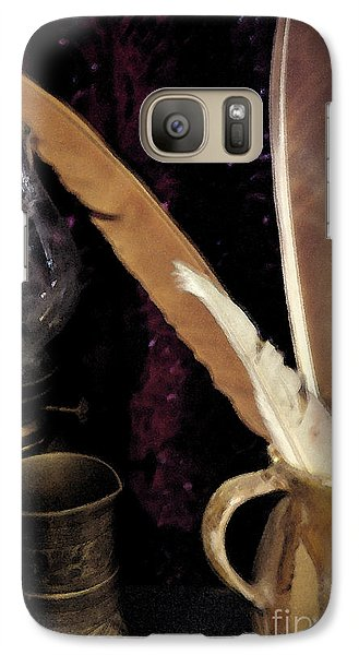 Galaxy Case featuring the photograph Pen Your Thoughts by Linda Shafer