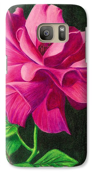 Galaxy Case featuring the drawing Pencil Rose by Janice Dunbar
