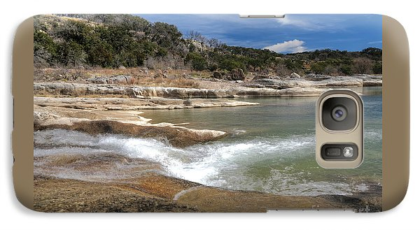 Galaxy Case featuring the photograph Pendernales Falls Texas by Martin Konopacki