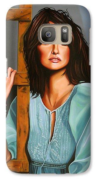 Penelope Cruz Galaxy S7 Case by Paul Meijering