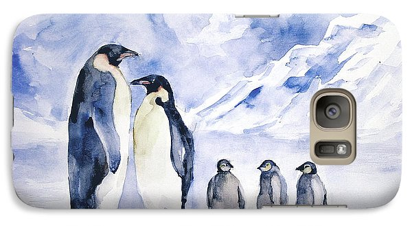 Galaxy Case featuring the painting Penguin Family by Faruk Koksal