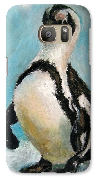 Galaxy Case featuring the painting Penguin by Jieming Wang