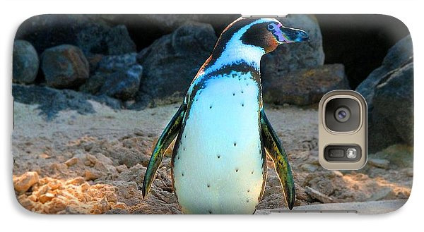 Galaxy Case featuring the photograph Penguin by Kristine Merc