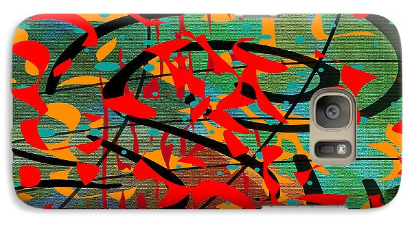 Galaxy Case featuring the painting Penman Original - 106 by Andrew Penman
