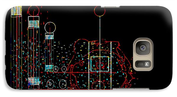 Galaxy Case featuring the painting Penman Original - Recycled Art 2 by Andrew Penman