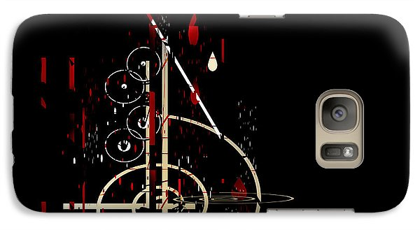 Galaxy Case featuring the painting Penman Original - Untitled 96 by Andrew Penman