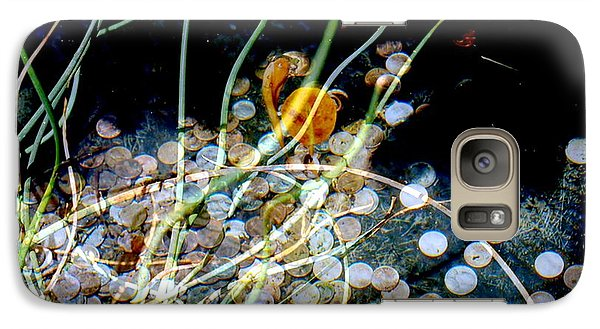 Galaxy Case featuring the photograph Pennies In The Pond by Irma BACKELANT GALLERIES