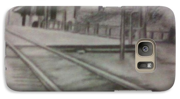 Galaxy Case featuring the drawing Pennsylvania Railroad Station by Thomasina Durkay