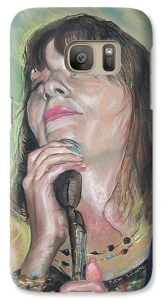 Galaxy Case featuring the pastel Penny Of The King Bees by Peter Suhocke