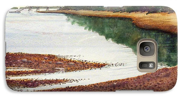 Galaxy Case featuring the painting Penobscot Bay by Roger Rockefeller
