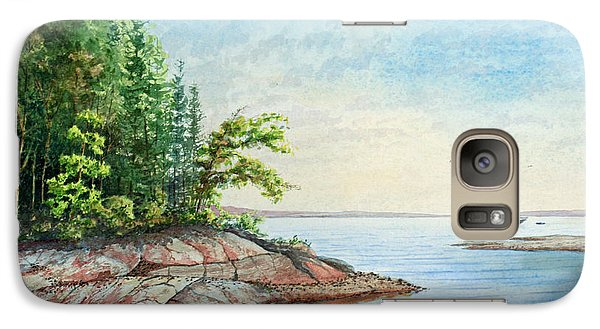 Galaxy Case featuring the painting Penobscot Inlet by Roger Rockefeller
