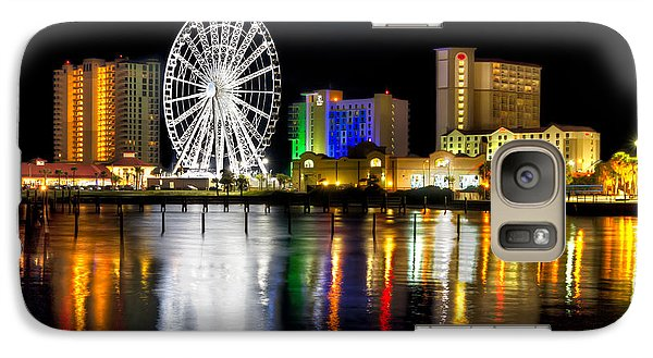 Galaxy Case featuring the photograph Pensacola Beach Skyline by Tim Stanley