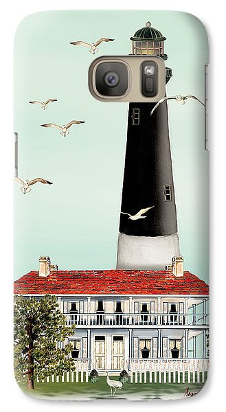 Galaxy Case featuring the painting Pensacola Light House by Anne Beverley-Stamps
