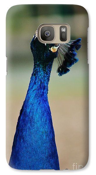 Galaxy Case featuring the photograph Pensive Peacock by Craig Wood