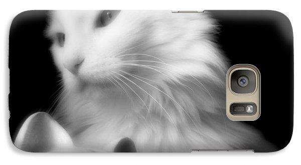 Galaxy Case featuring the photograph Pensive Turkish Angora by Aurelio Zucco