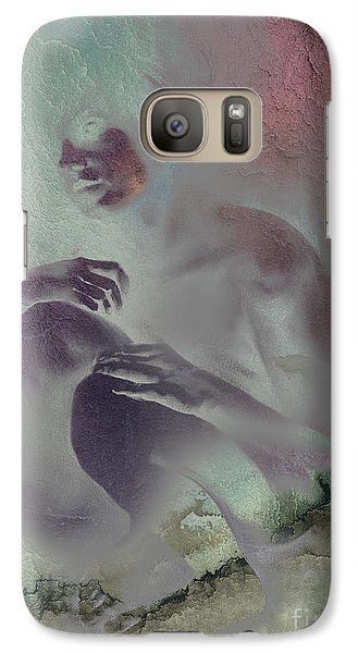 Galaxy Case featuring the drawing Pensive With Texture 2 by Paul Davenport