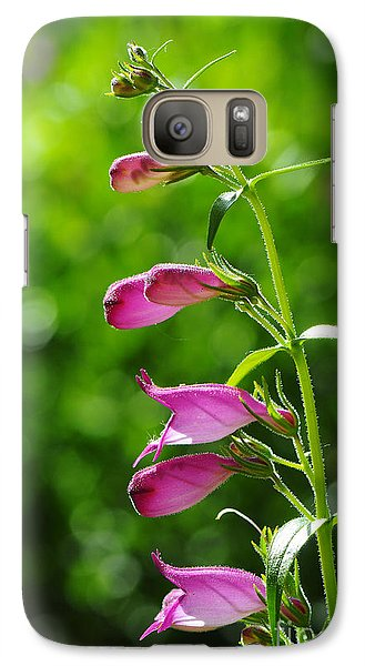Galaxy Case featuring the photograph Penstemon by Karen Slagle