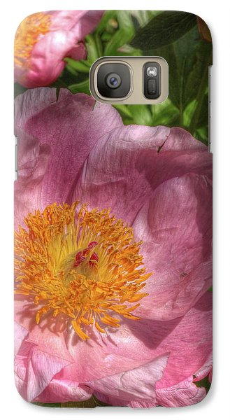 Galaxy Case featuring the photograph Peonies Aglow by Harold Rau