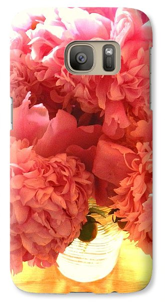 Galaxy Case featuring the photograph Peonies by Karen Molenaar Terrell